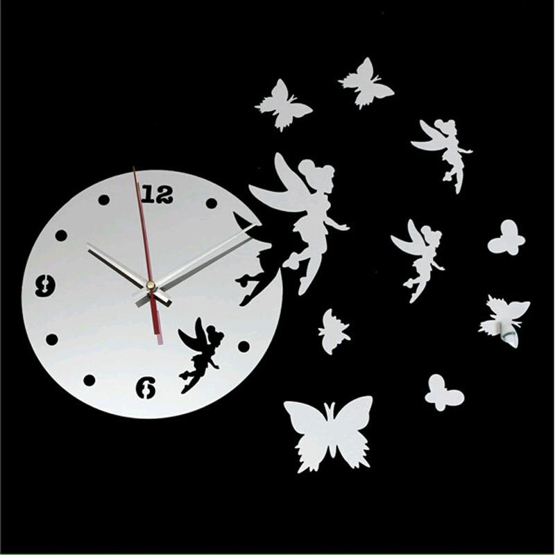 2015 novo relógio De parede relógio De quartzo relógios Reloj De Pared moderno Digital 3d Diy espelho acrílico sala frete grátis