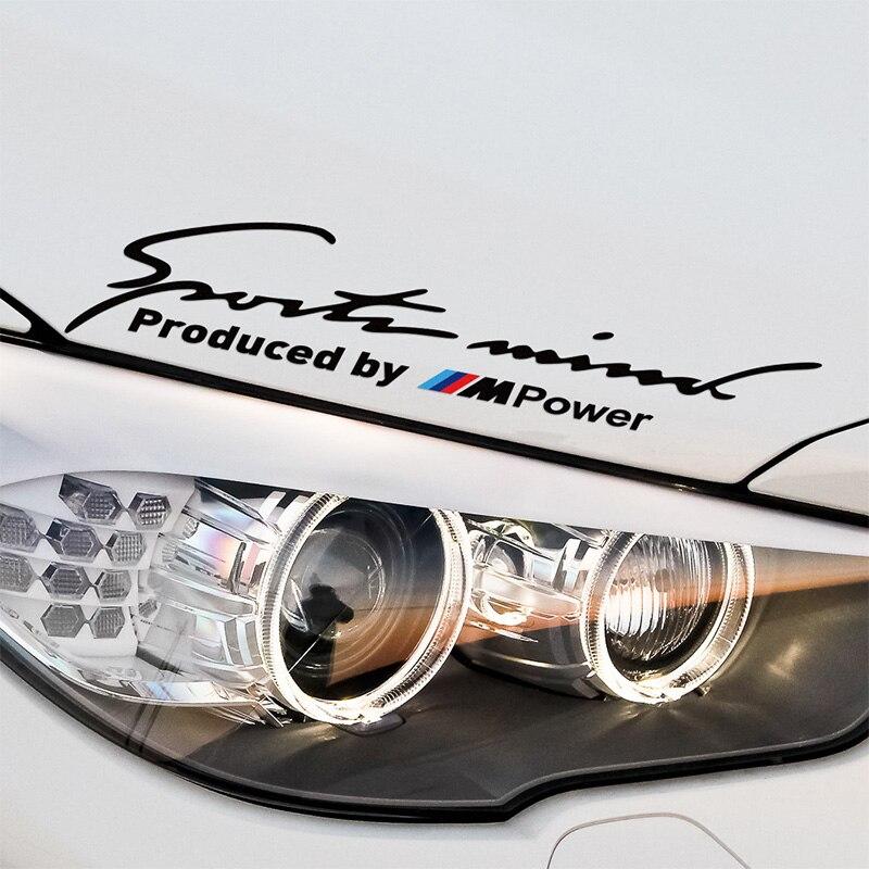 Mpower Sport Stickers Decal On Car Covers Car Styling For bmw e46 e39 e36 e90 e60 x5 e53 e30 car accessories cool custom made led door sill scuff plate welcome pedal car styling accessories for bmw e46 e39 e36 e46 e60 e90 ects