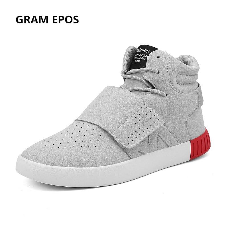 GRAM EPOS Male 2017 hip hop Autumn Casual Shoes grey Suede High Top Men Walking Shoes Breathable Winter fashion Botas