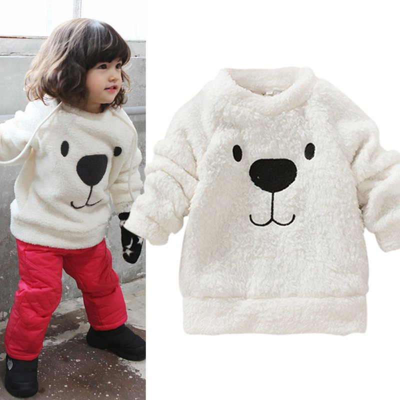Children-Baby-Clothing-Boys-Girls-Lovely-Bear-Furry-White-Coat-Thick-Sweater-Coat-2