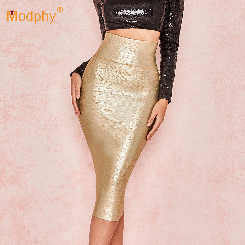 2019 Summer Women's <font><b>Bandage</b></font> <font><b>Skirt</b></font> <font><b>Sexy</b></font> Celebrity Runway Party Mid-Waist Calfskin <font><b>Bodycon</b></font> Club <font><b>Pencil</b></font> <font><b>Skirt</b></font> image