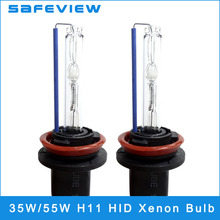 2 PCS Free Shipping HID Xenon Bulb 35W 55W H11 4300K 5000k 6000K 8000K 10000K Slim Xenon Hid Conversion Kit for Car Headlight
