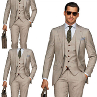 Jacket+Pant+Vest+Tie+Handkerchief Notch Lapel Two Buttons Mens Suits 2017 Skinning Fit men Suit Costume Homme Mariage Blazer Men
