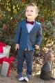 Azul marinho Meninos Smoking (Brasão + Pants + Tie + Camisa) 4 Peças BF804 Custom Made Casamento de Fumar vestido de noite Smoking Terno Menino roupas