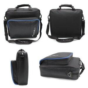 Image 5 - Funda protectora de lona para PS5/PS4 Pro Slim, bolso de hombro, tamaño Original para consola PlayStation 4, PS4 Pro