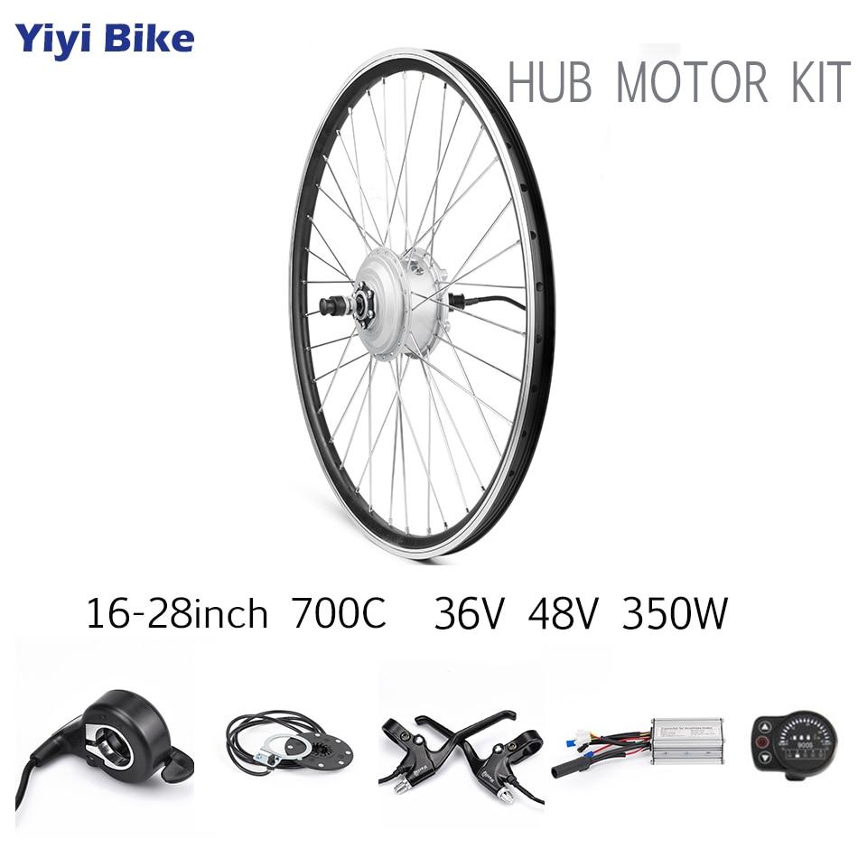36V 48V 350W bicicleta electrica Hub DC Brushless Motor
