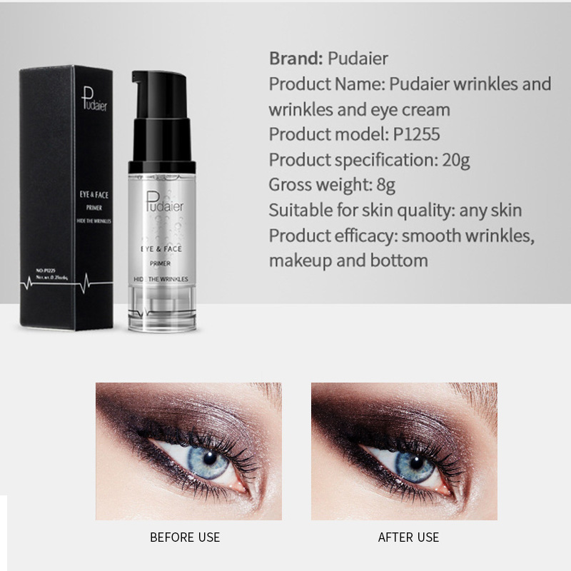New Eyes Makeup Eyeshadow Primer Cream Long Lasting Dark Hide Wrinkles Primer Foundation Cosmetic Tool HJL2018 image