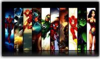Marvel Comics Hulk Captain America Iron Man Thor Hawkeye Superhero Movies The Avengers Art Silk Poster