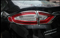 CHROME REAR TAILLIGHT LAMP COVER TRIM COVER FOR FORD FUSION 2013 2014