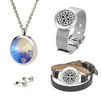 EVERLEAD Colar/Brincos/Pulseira conjuntos de jóias bonita Relógio de couro wrap pulseiras pingente de Zircão brincos de cristal pingentes