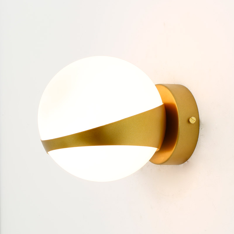 все цены на Design Glass Wall Lamp Sconce Modern Bedroom Kitchen Stair Living Room Wall Lights Decor Home Lighting Gold Iron E14 110-220V