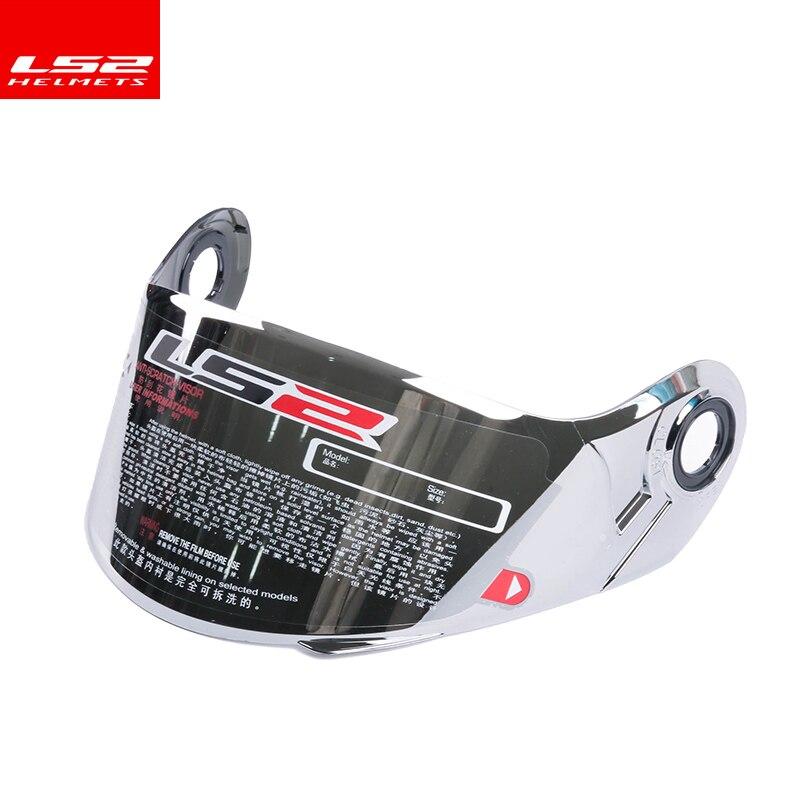 100% Véritable LS2 ff370 Flip Up casque de moto visière approprié pour LS2 FF394 FF3325 casque Multi-coloroptional lentille