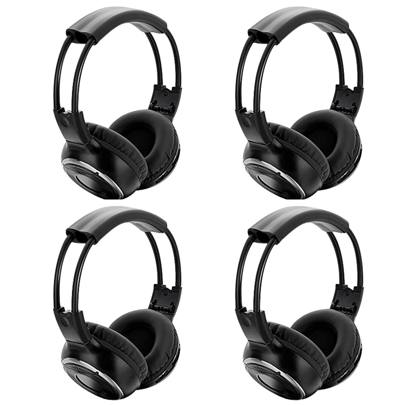 4PCS High quality Infrared Stereo Wireless Headphones Headset IR in Car roof dvd or Flip Down