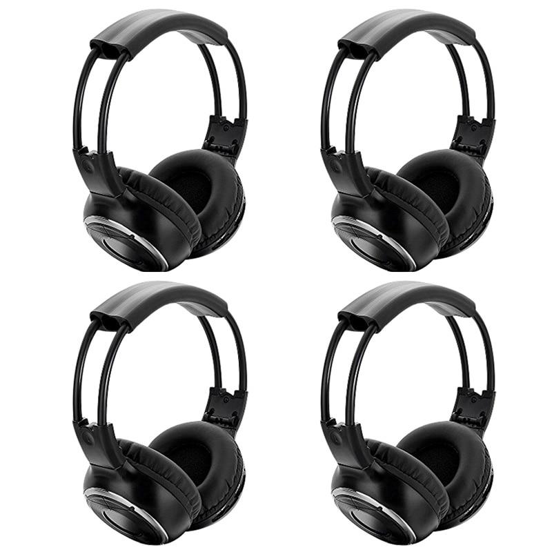 4 STUKS Hoge kwaliteit Infrarood Stereo Wireless Headphones Hoofdtelefoon IR in autodak dvd of Flip Down & hoofdsteun dvd speler twee kanalen-in Hoofdtelefoon/Headset van Consumentenelektronica op  Groep 1