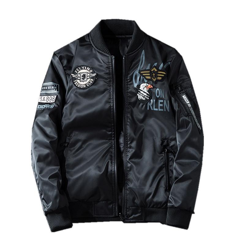 New Mens Bomber Jacket Coat Male Embroidery 7XL Slim Fat AB Wear Casual Flying Jacket Streetwear Men Brand Clothing Outwear BY99