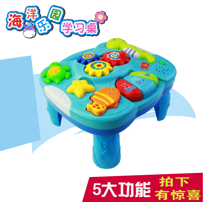 Free Shipping Musical Baby Learning Table Discovering Activity Baby Table  Educational Game Toys(China (