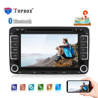 Topbox 2 Din Car Radio Android 7.1 GPS Multimedia Player for Volkswagen Passat GOLF POLO SEAT Leon Skoda Seat Leon Wifi Stereo