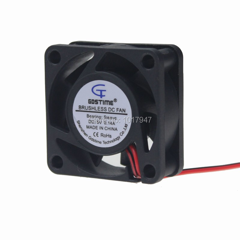 2Pieces LOT Gdstime DC 2Pin 5V 4cm 40mm 4015S 40x40x15mm Brushless Cooling Cooler Fan 2pieces lot gdstime 2pin 5v dc 3007 30mm 3cm 30x30 x7mm 5v cooler cooling fan