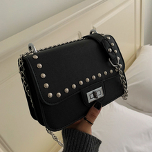 Retro Bags For Women Solid Flap Fashion Messenger Bag Rivet Shoulder Small Big Lady Handbags High Quality Womens