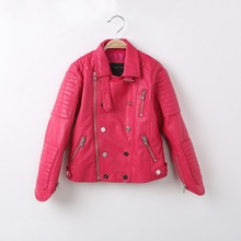 Spring Autumn Kids Jacket PU Leather GIRL  Jackets Clothes Children Outwear For Baby GIRLS  JACKETS  1421 children jackets