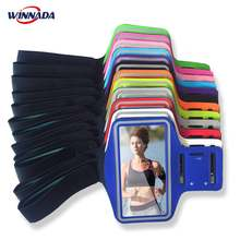 Arm bags for Huawei mate SE 10 9 pro 8 7 P20 lite /p9+/p10+ run gym Fitness band sports pouch + KEY slot phone case cover coque(China)