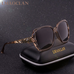 4e0a7e742 2018 الفاخرة العلامة التجارية تصميم HD الاستقطاب النظارات الشمسية النساء  السيدات المتضخم مربع التدرج نظارات شمسية