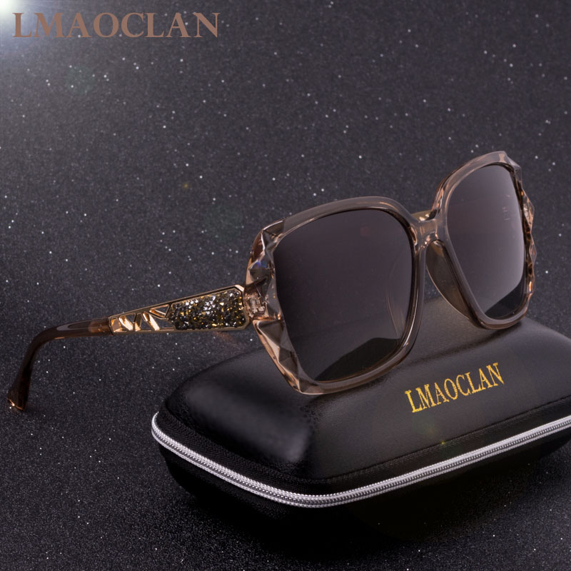 2018 Marque De Luxe Conception HD lunettes de Soleil Polarisées Femmes Dames Surdimensionné Carré Gradient lunettes de soleil lunettes de soleil femme Oculos UV400