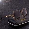 2018 de la marca de lujo de diseño HD gafas de sol polarizadas las señoras de las mujeres de gran tamaño cuadrado de gafas de sol de mujer gafas UV400