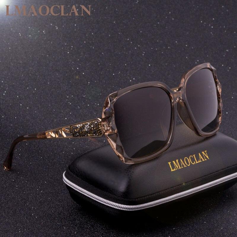 Design da marca de luxo hd polarizado óculos de sol senhoras quadrados grandes dimensões gradiente óculos femininos oculos uv400
