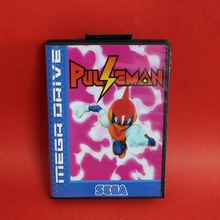 Pulseman 16 bit MD card with Retail box for Sega MegaDrive Video Game console system