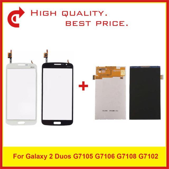 """Di alta Qualità 5.25 """"Per Samsung Galaxy Grand 2 Duos G7105 G7106 G7108 G7102 Display LCD Con Touch Screen Digitizer pannello del sensore"""