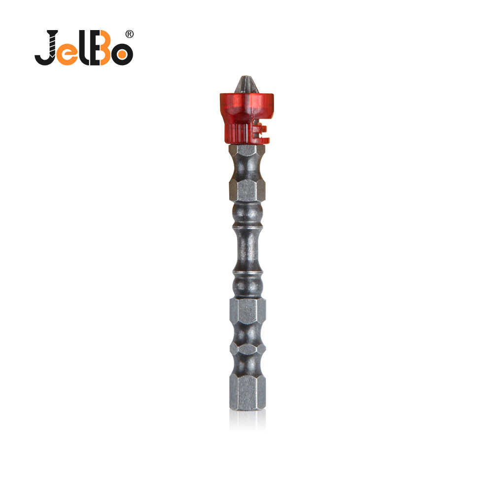 JelBo PH2 Magnetic Screwdriver Bit Single Head Anti-Slip Hex S2 Electric Screwdriver Bit For Power Tools (65mm)