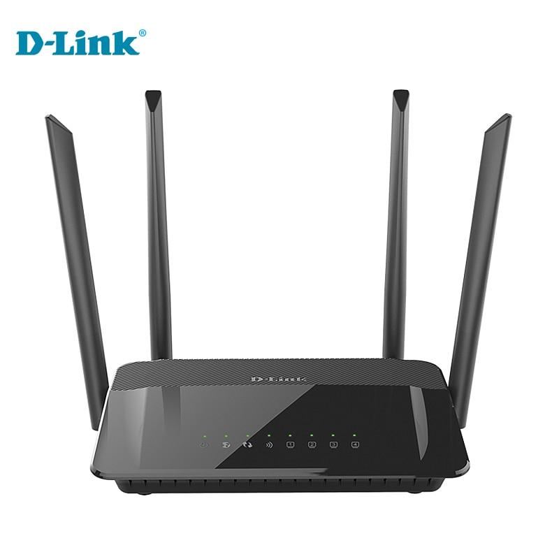Original D-LINK Wireless Router Wifi DIR - 822 English 2.4G/5Ghz 1200Mbs Gigabit Wall Support Optical Fiber Home Router