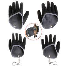 1PC Non Slip Latex Vissen Handschoenen Met Magneet Release Visser Beschermen Hand Vis Grab Anti Skid Capture Veiligheid Hand handschoenen