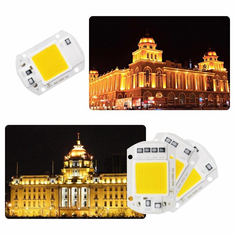 LED COB Lamp Chip 10W 20W 30W 40W 50W AC 110V 220V Smart IC LED Beads DIY For LED Floodlight Spotlight Cold White Warm White 6