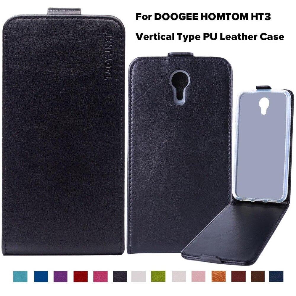 Pu de cuero flip case teléfono case cubierta para doogee homtom ht3 Doogee Homto