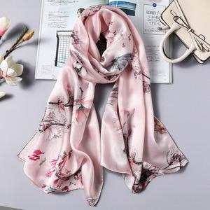 Image 5 - DANKEYISI Women Long Silk Scarf Female Shawl Women High Quality 100% Pure Silk Scarfs Wraps Lady Foulard Hijab Scarves