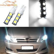 цена на 2X White T10 501 W5W 168 194 Bulbs 5050 SMD 13LED Auto Car Led Side Light Wedge Lamp Reading Light Tail Light Stop Light Dc 12V