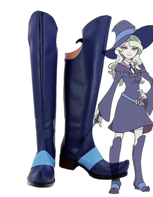 Little Witch Academia Diana Cavendish Boots Cosplay Shoes Boots Custom Made