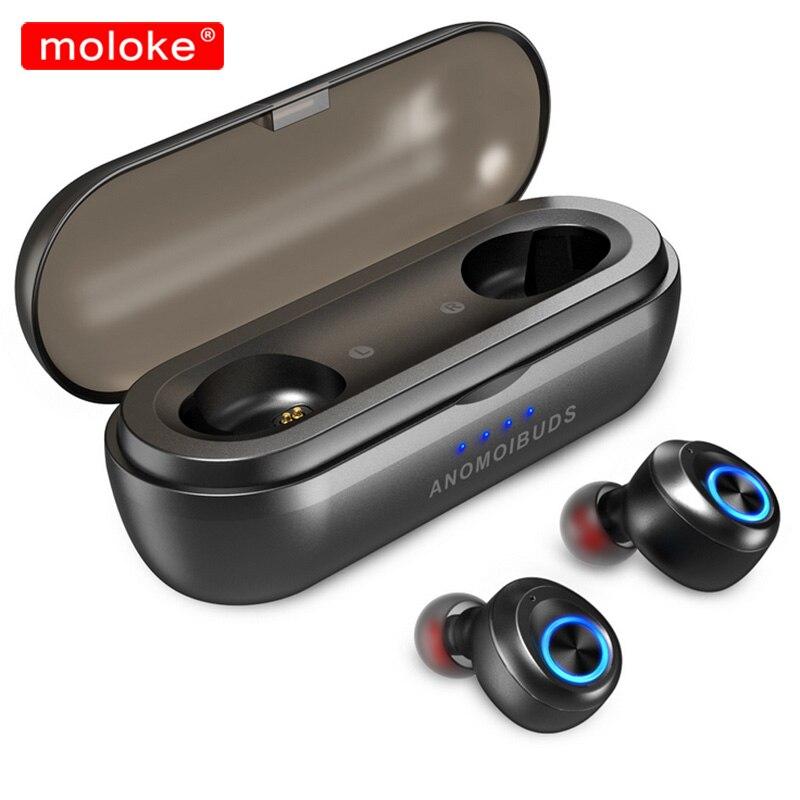 Moloke Bluetooth écouteurs TWS sans fil Bluetooth 5.0 écouteurs mains libres sport écouteurs casque de jeu