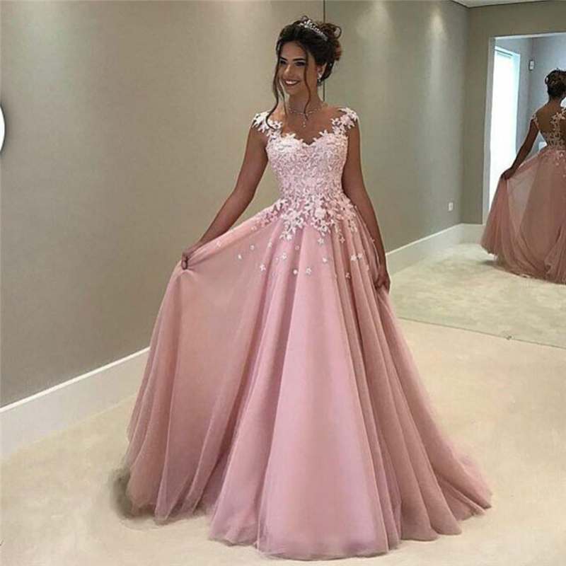 Ombre prom dress scalloped bodenlangen chiffon a linie prom dress ...