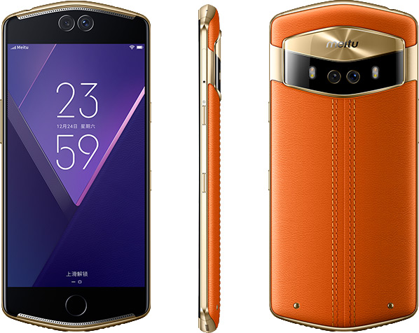 Originale Meitu V6 4G LTE 6 GB di RAM 128 GB di ROM MT6799 Deca Core 5.5 'Doppio Anteriore e telecamera posteriore Selfie Bellezza Rapido carica Del Telefono Mobile