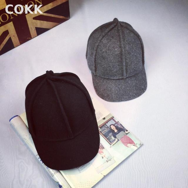 COKK Винтажной Моды Конный Шляпа Зимние Шапки Для Женщин Мужчины Ретро Шерсть Бейсболка Женская Открытый Спорт Езда Cap Gorras