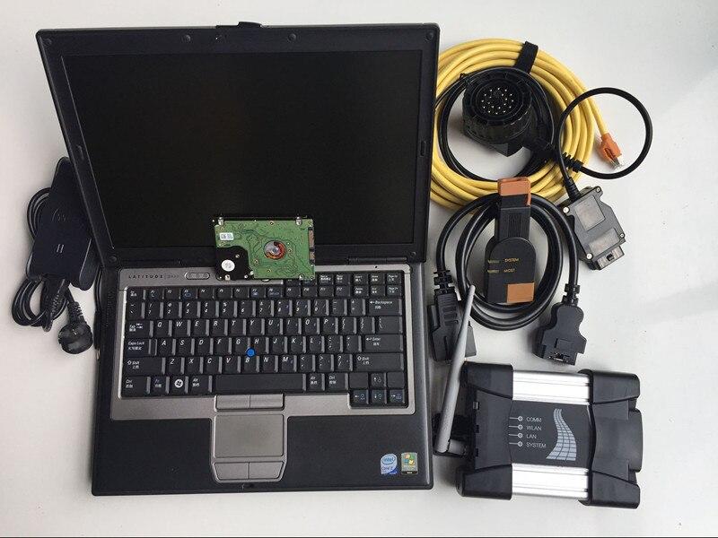 Icom next pour bmw wifi scanner 3 en 1 outil de programmation de diagnostic avec d630 ordinateur portable logiciel 500 gb hdd ista d p prêt à l'emploi