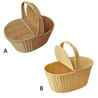 Artificial Rattan Woven Hand Storage Shopping Basket Hotel Cleaning Basket Picnic Basket Flower Basket
