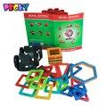 Бекки 2016 Hot 32 шт. магнитных блоков образовательные детские игрушки 10 шт. треугольник 16 шт. площадь 2 шт. шестиугольная 3D DIY строительные блоки
