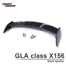 GLA45 Style Fiber De Carbone Aileron Arrière Aile Pour Mercedes GLA X156 GLA200 GLA250 GLA45 AMG Toit Spoiler Aile