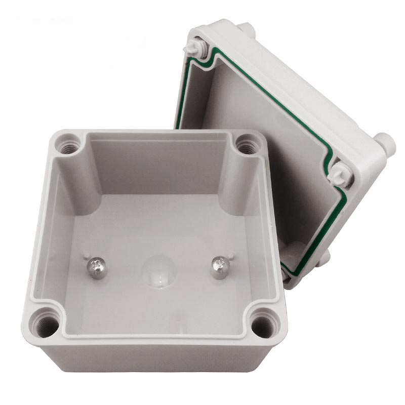 100 100 75mm outdoor waterproof junction box ABS plastic boxes sealed box plastic junction box enclosure in Connectors from Lights Lighting