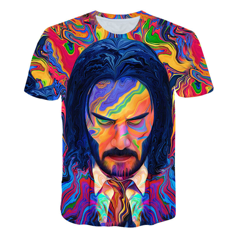 John Wick: Chapter 3 - ParabellumGraphic T-Shirt John Wick The Boogie Man Movie 3d Print Cosplay Tshirt O-neck Short