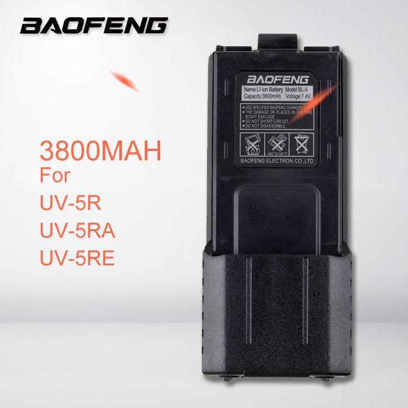 Enlarged 3800MAH BAOFENG UV-5R UV-5RA UV-5RE Battery Walkie Talkie Portable Two Way Radio UHF/VHF Transceiver UV 5R Accessories